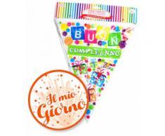 Festone Bandierine Buon Compleanno in Pvc Givi Italia mt.10