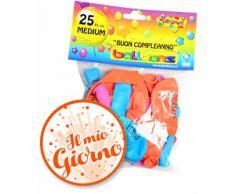 Palloncini Buon Compleanno Medium Givi Italia pz.25