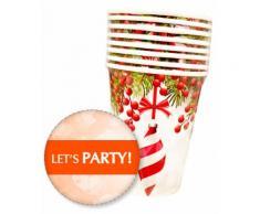 Bicchieri di Natale Pretty Christmas Givi Italia pz.8