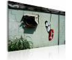 Bimago Quadro Bambino in altalena (Banksy) XXL