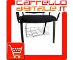 Griglia portariviste, giornali cestino in metallo adatto per tutte le sedie in plastica, tessuto, ecopelle con o senza ribaltina