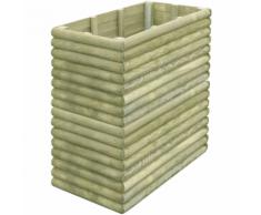 vidaXL Fioriera da giardino 106x56x96 cm in legno di pino impregnato