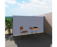 vidaXL Patio Laterale Retrattile Protezione Tenda da Sole 160 x 300 cm Grigio