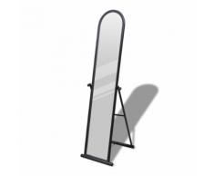 vidaXL Specchio autoportante a figura intera rettangolare nero