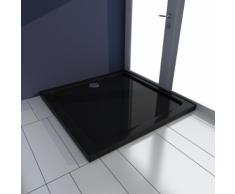 vidaXL Piatto doccia quadrato in ABS nero 80 x cm