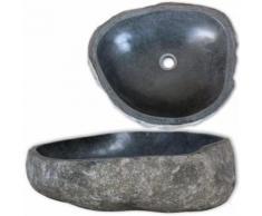 vidaXL Lavandino ovale in pietra del fiume 40 cm
