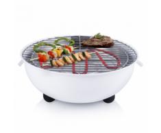 Tristar Barbecue Elettrico da Tavolo BQ-2880 1250 W 30 cm Bianco