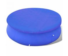 vidaXL Piscina telo di copertura PE rotonda 360-367 cm 90 g / mq