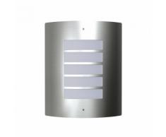 vidaXL Appliquè lampione da giardino in acciaio inox per interni ed esterni