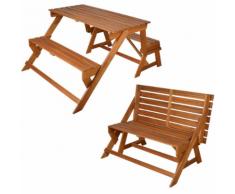 Esschert Design BL059 Panchina convertibile / tavolo da picnic