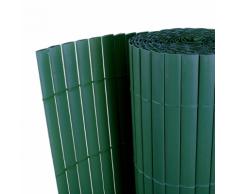vidaXL Giardino Recinto Verde 90 x 300 cm recinzione PVC double face 12 mm
