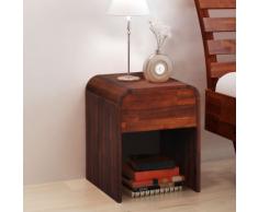 vidaXL Comodino in legno di acacia marrone 41,5x42 cm
