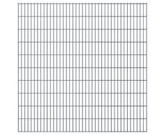 vidaXL Set Pannelli recinzione giardino 2D 2008x2030 mm 8 m grigio