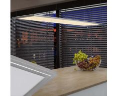 vidaXL Pannello a LED Luce da soffitto 30 x 120 cm 40 W bianco caldo