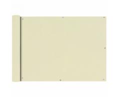 vidaXL Tenda da sole per balcone in tessuto Oxford 75 x 400 cm crema