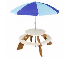 AXI Tavolo da Picnic per Bambini Orion Marrone e Bianco A031.021.00