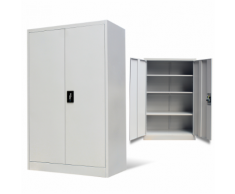 vidaXL Armadio metallico per ufficio con 2 ante 140 cm grigio