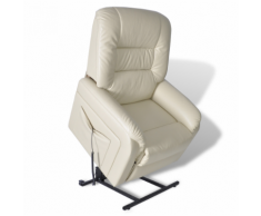 vidaXL Poltrona bianca elettrica reclinabile regolabile