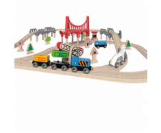 Hape Set Pista treno ferrovia double loop E3712
