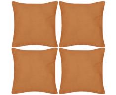 vidaXL Set 4 Federe in cotone arancione 40 x cm