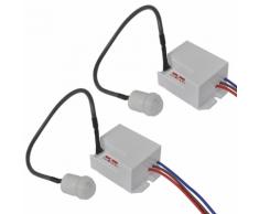 vidaXL Set 2 pz Rilevatore di movimento per lampade a LED