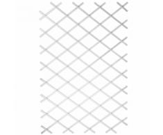 Nature Pergolato da Giardino 100x200 cm PVC Bianco 6040703