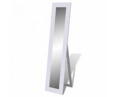 vidaXL Specchio autoportante a figura intera bianco