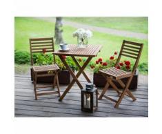 Beliani Set da giardino in legno marrone FIJI