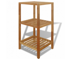 vidaxl scaffale da bagno in legno di noce 36x36x79 cm