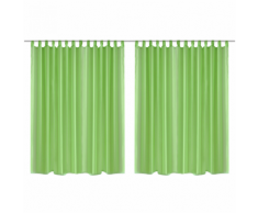 vidaXL Set 2 pz Tenda pura 290 x 245 cm verde