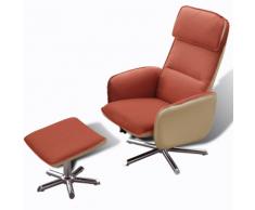 vidaXL TV di Casa Poltrona reclinabile regolabile con poggiapiedi Arancione