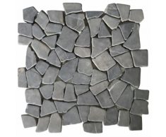 vidaXL VidaXL Piastrelle per Mosaico 11 Pz Marmo Nero 1 m²