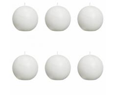 Bolsius Candela sfera rustica 80 mm Bianco