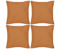 vidaXL Set 4 Federe in cotone arancione 50 x cm