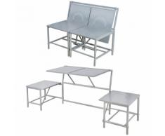 Esschert Design BL053 Panchina convertibile grigia