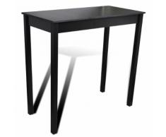vidaXL Tavolino bar tavolo da pranzo nero 115 x 55 107 cm