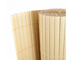vidaXL Giardino Recinto Giallo 150 x 500 cm recinzione PVC double face 12 mm