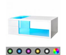 vidaXL Tavolino per Caffè Brillante con Luce a LED 41,5 cm