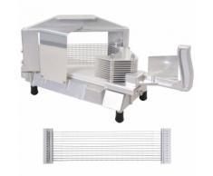 vidaXL Affettatrice Pomodoro Acciaio e Alluminio 1 Taglierina 4,7 mm