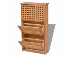 vidaXL VidaXL Scarpiera in legno massiccio di noce 55x20x104 cm