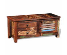 vidaXL Armadietto ad angolo in legno anticato massello per TV Hi-Fi