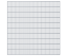 vidaXL Set Pannelli recinzione giardino 2D 2008x2030 mm 10 m grigio
