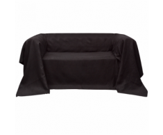 vidaXL Fodera per divano in micro-camoscio marrone 270 x 350 cm