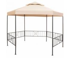 vidaXL Gazebo Padiglione Tenda da Giardino 323x265 cm