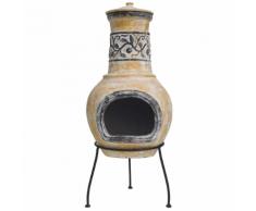 RedFire Caminetto Soleda in Argilla Color Giallo/Marrone 86035