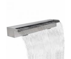 vidaXL Fontana a cascata da giardino rettangolare acciaio inossidabile 90 cm