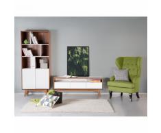 Beliani Mobile TV con cassetti in legno color noce - SYRACUSE
