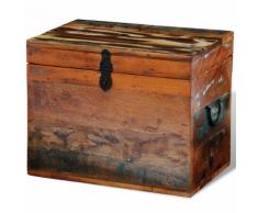 vidaXL Scatola in legno anticato massello