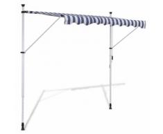 vidaXL Tenda da Sole a Scomparsa 300 cm ad Azionamento Manuale Blu/Bianco