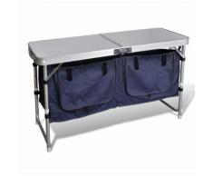 vidaXL Armadietto pieghevole da campeggio con telaio in alluminio
